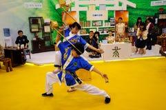 Servizio cinese del tè, 2013 WCIF Fotografie Stock Libere da Diritti