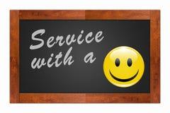 Servizio con un sorriso Fotografia Stock