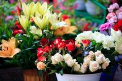 Servizio del fiore Fotografie Stock