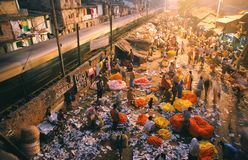 Servizio del fiore, India Fotografia Stock Libera da Diritti