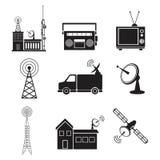 Servizio del trasmettitore di informazioni di comunicazione della raccolta illustrazione vettoriale