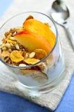 Servizio del yogurt e del granola fotografie stock libere da diritti
