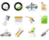 Servizio dell'automobile e riparare l'insieme dell'icona Immagine Stock