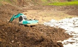 Servizio dell'escavatore Immagini Stock