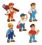 Servizio dell'impianto idraulico Progettazione del fumetto dell'idraulico grafico royalty illustrazione gratis