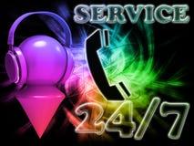 Servizio 24 dell'iscrizione Immagini Stock Libere da Diritti