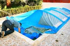 Servizio della piscina Fotografie Stock Libere da Diritti