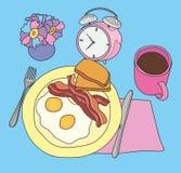 Servizio della prima colazione fotografia stock
