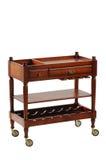 Servizio della tabella di legno sulle rotelle Fotografia Stock