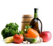 Servizio della verdura dei coltivatori della priorità bassa dell'alimento biologico Fotografia Stock