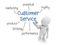 Servizio di assistenza al cliente illustrazione di stock