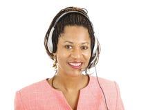 Servizio di assistenza al cliente con un sorriso immagine stock