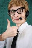 Servizio di assistenza al cliente divertente Immagine Stock Libera da Diritti
