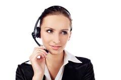 Servizio di assistenza al cliente femminile Fotografia Stock