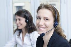 Servizio di assistenza al cliente femminile Fotografia Stock Libera da Diritti
