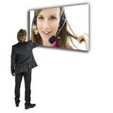 Servizio di assistenza al cliente online Fotografie Stock