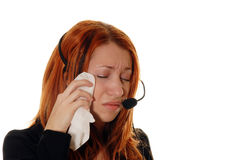 Servizio di assistenza al cliente triste Immagine Stock Libera da Diritti