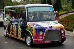 Servizio di autobus della navetta nell'area di Flora Ratchapruek Park reale Fotografie Stock Libere da Diritti