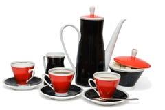 Servizio di caffè Fotografia Stock Libera da Diritti