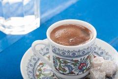 Servizio di Coffe del turco Fotografie Stock Libere da Diritti