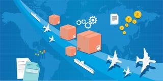 Servizio di distribuzione attraverso il mondo Immagini Stock