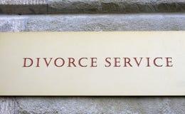 Servizio di divorzio Fotografie Stock