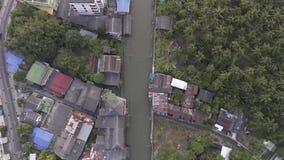 Servizio di galleggiamento di Damnoen Saduak video d archivio