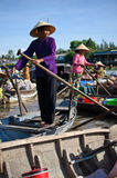 Servizio di galleggiamento di Phong Dien Fotografia Stock