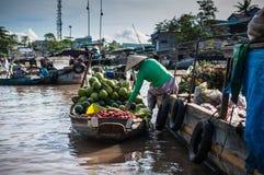 Servizio di galleggiamento di Phong Dien Immagine Stock Libera da Diritti
