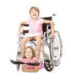 Servizio di handicap ad altri la gente fotografia stock