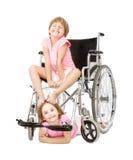 Servizio di handicap in un'immagine divertente immagine stock