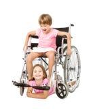 Servizio di handicap in un'immagine divertente fotografia stock