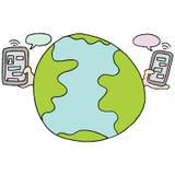 Servizio di invio di messaggi di testo globale Fotografia Stock Libera da Diritti