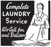 Servizio di lavanderia completo illustrazione di stock