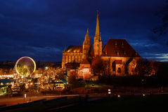 Servizio di natale di Erfurt   Fotografia Stock