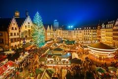 Servizio di natale a Francoforte immagini stock libere da diritti
