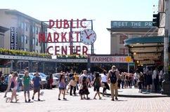 Servizio di posto di Pike a Seattle Fotografia Stock Libera da Diritti