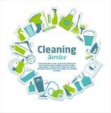 servizio di pulizia Immagine Stock