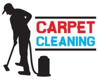 Servizio di pulizia del tappeto Fotografia Stock Libera da Diritti