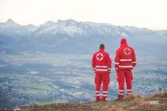 Servizio di salvataggio nelle alpi Fotografia Stock Libera da Diritti