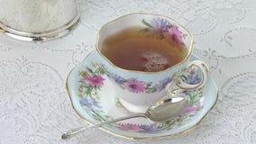 Servizio di tè stock footage