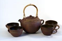 Servizio di tè di ceramica Fotografia Stock Libera da Diritti