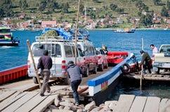 Servizio di traghetto del Titicaca, Bolivia Fotografia Stock