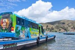 Servizio di traghetto del Titicaca, Bolivia Fotografia Stock Libera da Diritti