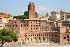 Servizio di Trajan (Mercati Traianei) a Roma, Italia Fotografia Stock