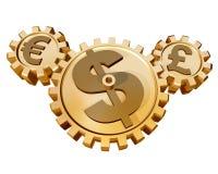 Servizio di valuta Fotografie Stock Libere da Diritti