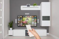 Servizio di VOD del video on demand della TV fotografie stock libere da diritti
