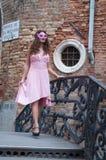 Servizio fotografico dei modelli a Venezia Fotografia Stock