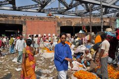 Servizio indiano del fiore Immagine Stock Libera da Diritti