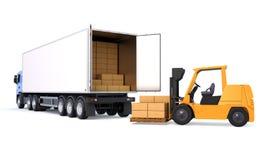 Servizio logistico di spedizione Fotografie Stock